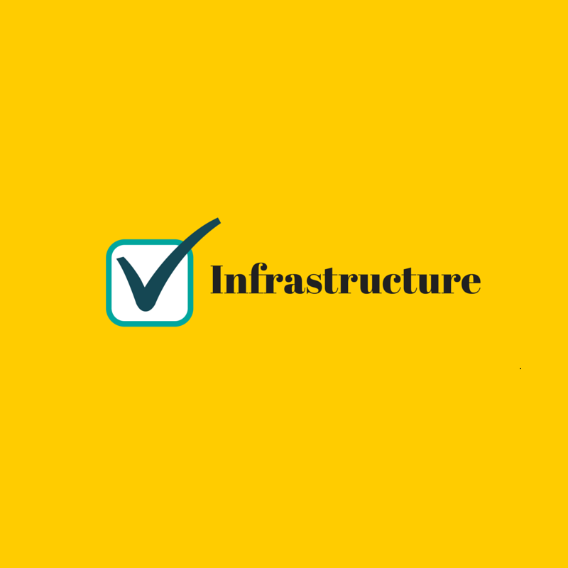 infrastructure with a check mark