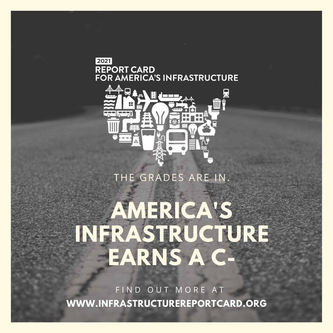 Report Card Asce S 2021 Infrastructure Report Card